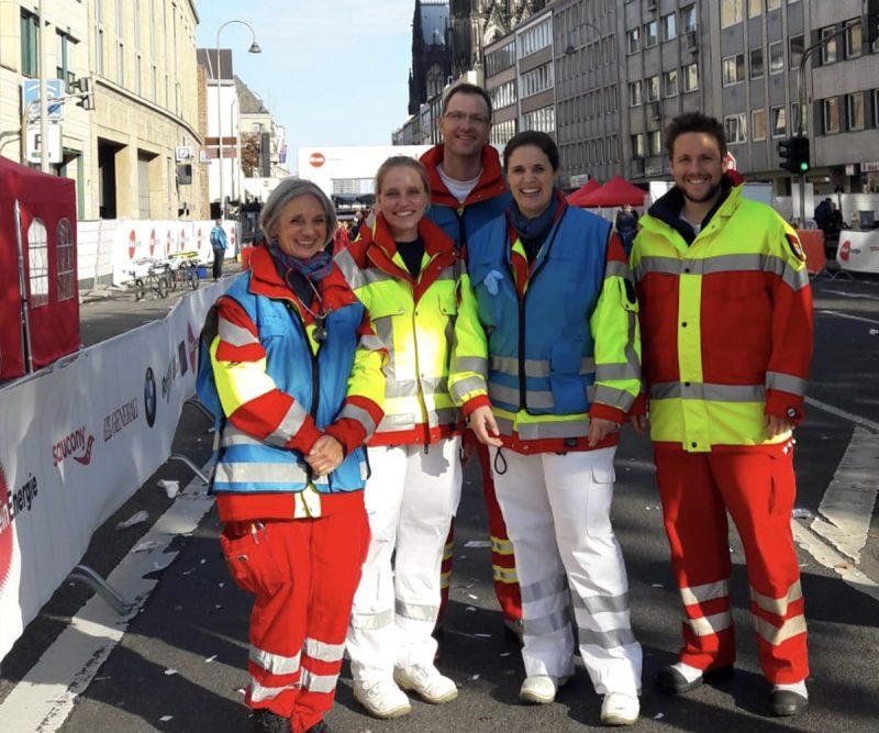 ASB Köln Ärzteteam beim Köln Marathon