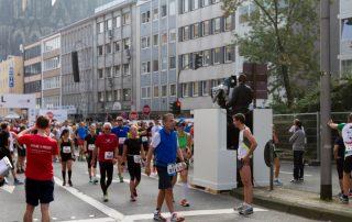 Marathon Läufer im Ziel