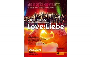 Benefizkonzert Vocal Journey 2019 Plakat
