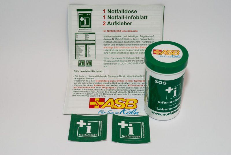 Notfalldose- Lebensrettende Informationen aus dem Kühlschrank