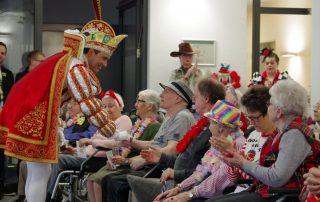 Karnevalsprinz Marc I. zu Gast in den Zollstockhöfen