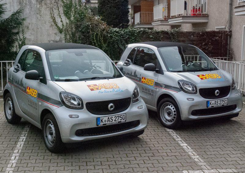 Zwei neue Smarts für das Pflegezentrum Sülz