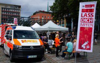Mobile Impfstation am Wiener Platz